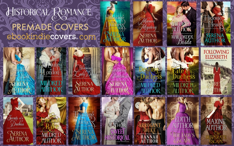 Historical Romance Premade Covers s