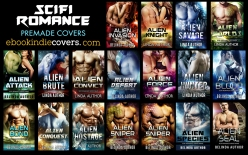 SciFi Romance Premade Covers s