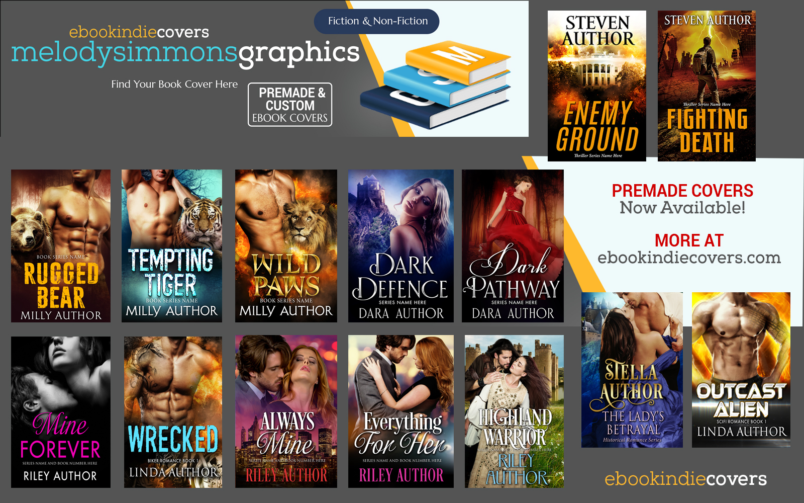 EBOOK INDIE COVERS   Premade Book Covers & Custom Book Cover Designer